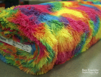rainbow cuddle fabric by Shannon