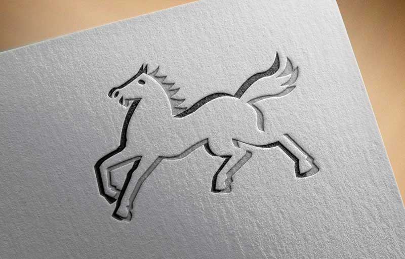 Download Free Running Horse Logo for Business
