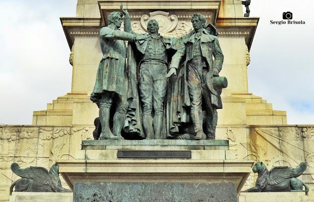 Close-up do Grupo Escultórico Os Revolucionários Pernambucanos de 1817 - Monumento à Independência do Brasil - Ipiranga
