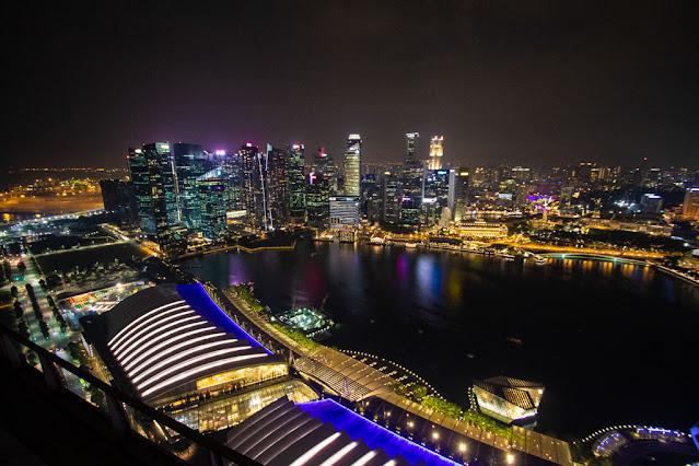 Vista dal Sands Sky park al Marina bay Sands- Singapore