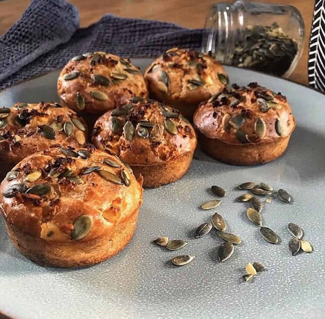Muffins healthy sucré salé feta citron et thym Charlotte and cooking