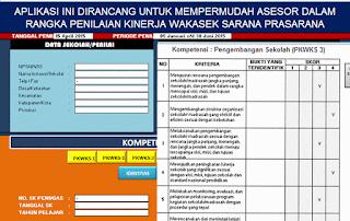 Aplikasi Penilaian Kinerja Wakil Kepala Sekolah Bagian Sarana Prasarana
