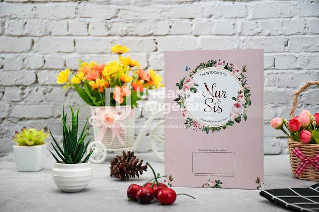 Undangan Pernikahan Murah Tema Bunga - Walimahanid | 0812-1141-8687