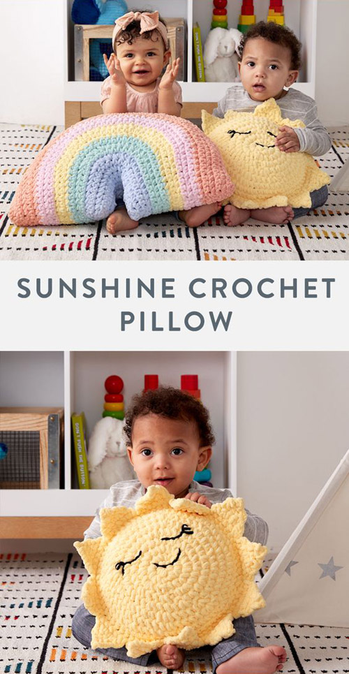 Sunshine Crochet Pillow - Free Pattern
