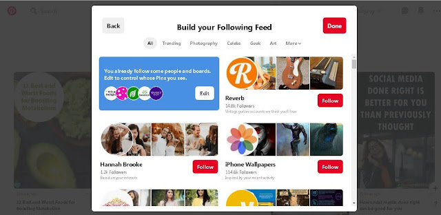 Build your Following Feed - Pinterest Tips Ans Tricks