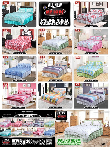harga sprei dan bed cover my love