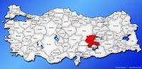 Malatya ilinin Türkiye haritasında gösterimi