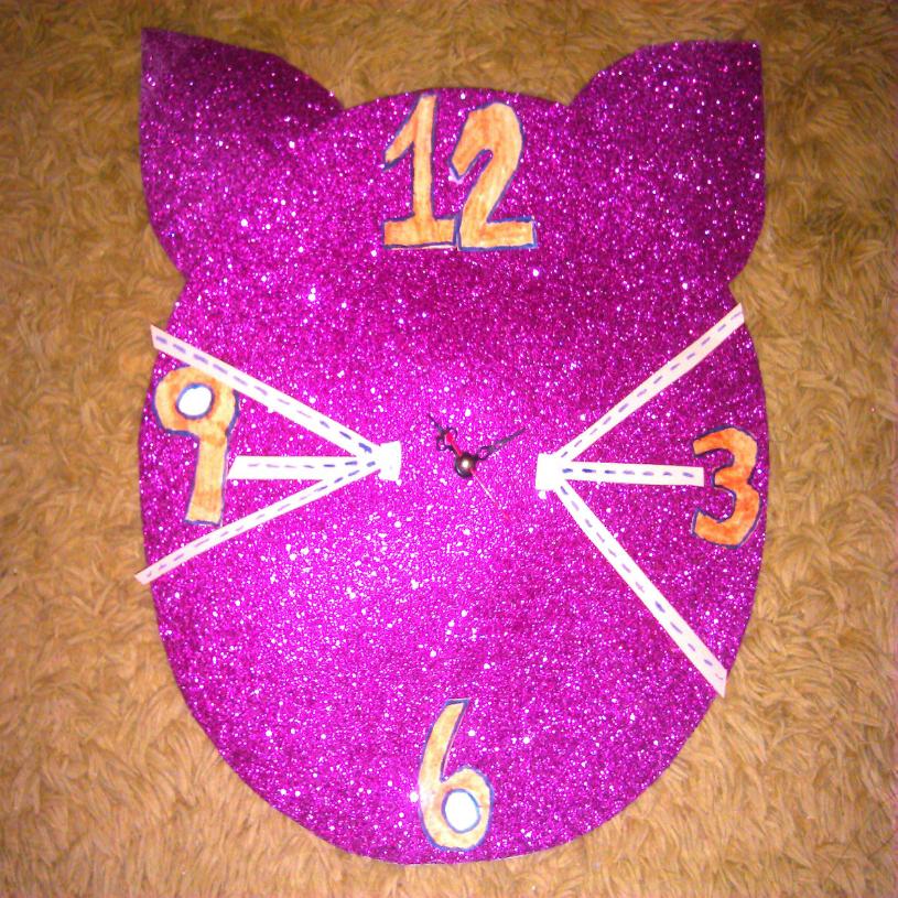Senhorita Meow Diy: Relógio meow.
