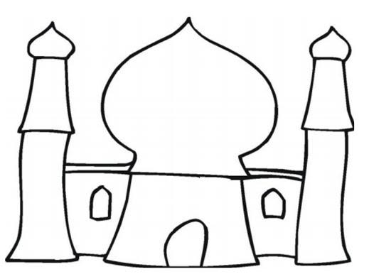 Mosque coloring pages ~ belajar sukses: Mewarnai Masjid