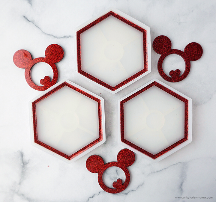 Mickey Mouse Resin Coasters