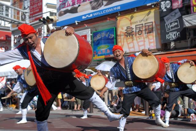 Eisa Dance with 10,000 people, Naha City, Okinawa Pref.