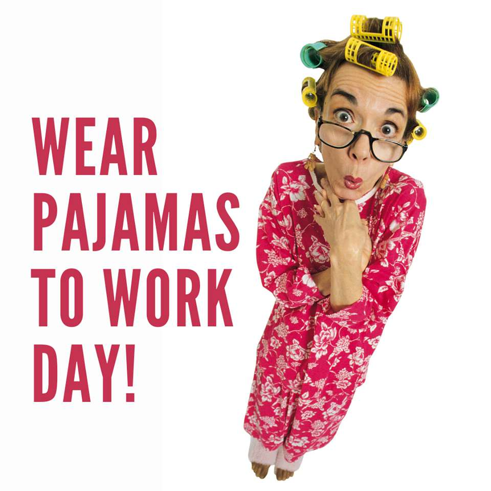 Wear Pajamas to Work Day Wishes for Whatsapp