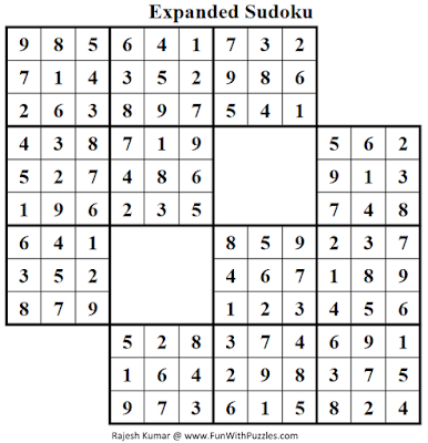 Expanded Sudoku (Fun With Sudoku #51) Solution
