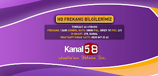 kanal 58 tv frekans 2018