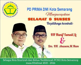 KH Hanief Ismail dan KH Anashom Kembali Pimpin NU Semarang