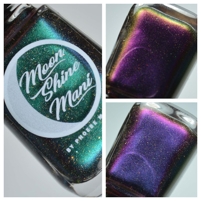 green multichrome nail polish in bottle