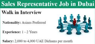 Requirement Sales Representative Post Job Vacancy Signature Classic For Dubai Location