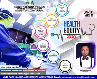 Unical health week; SUG sets to host 50,000 students