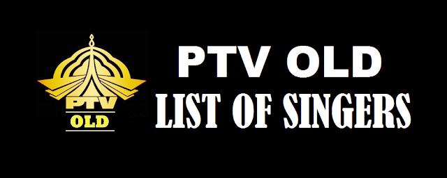 List of Singers of PTV