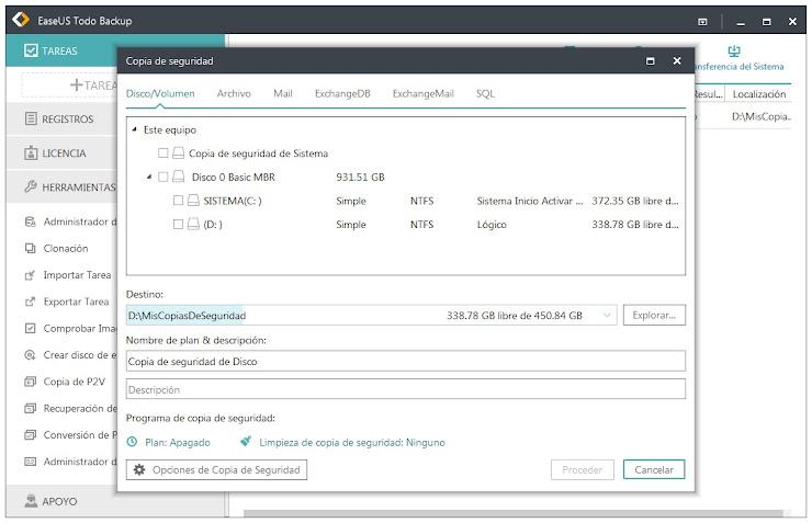 Realiza copias de seguridad de la información de tu empresa con EaseUS Todo Backup