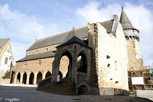 Il cortile interno del castello di Vitré