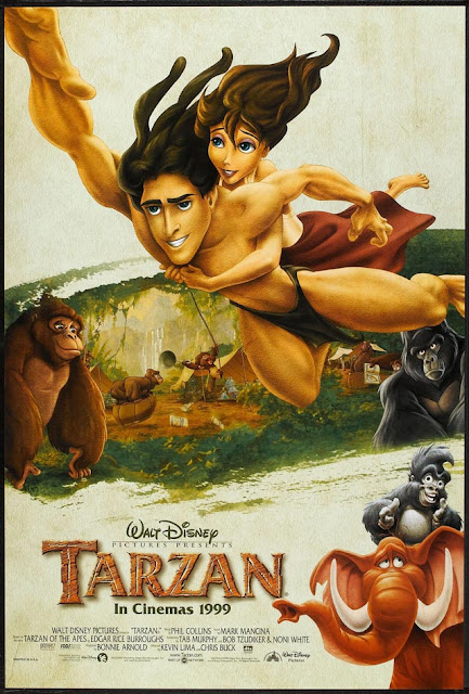 Tarzan in jungle Tarzan 1999 animatedfilmreviews.filminspector.com