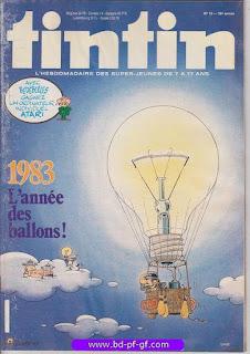Tintin-numéro 15, année 38,  1983, l'année des ballons