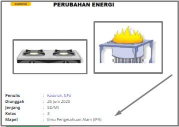 Download RPP Daring SD Kelas 3 Ilmu Pengetahuan Alam