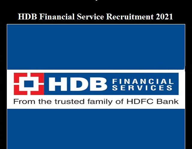 HDB Financial Services Recruitment 2021 - Apply here for Sales Manager on Alternate Channels Posts