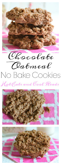 Easy and delicious! These no bake cookies are made without peanut butter and still just as tasty! Great for the holidays or as an everyday snack! Chocolate Oatmeal No Bake Cookies Recipe from Hot Eats and Cool Reads