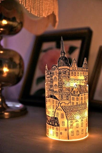 papierowy lampion