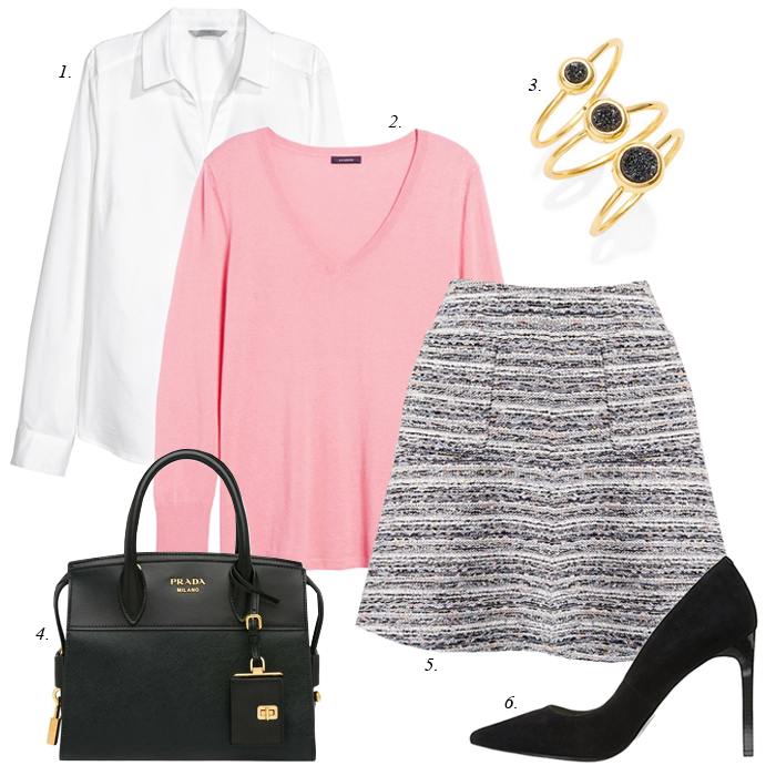 how to style skirt for work