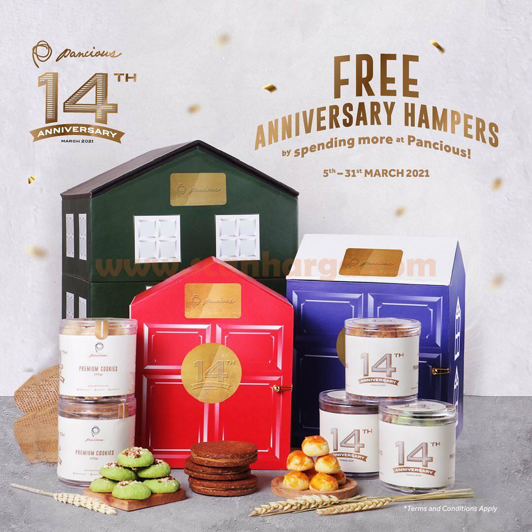 Promo PANCIOUS Anniversary 14th! Gratis Hampers