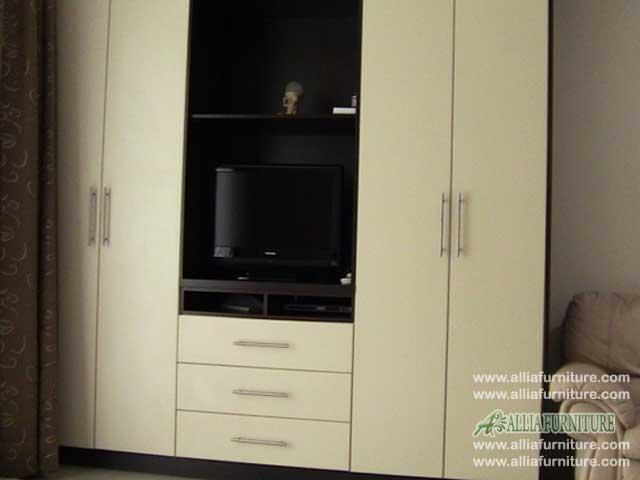 lemari baju tv minimalis model apollo