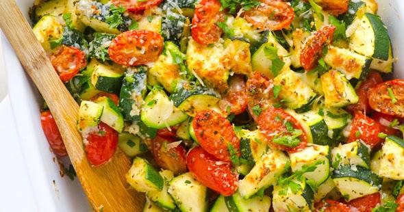 Garlic Parmesan Zucchini and Tomato Bake Recipe - My ...