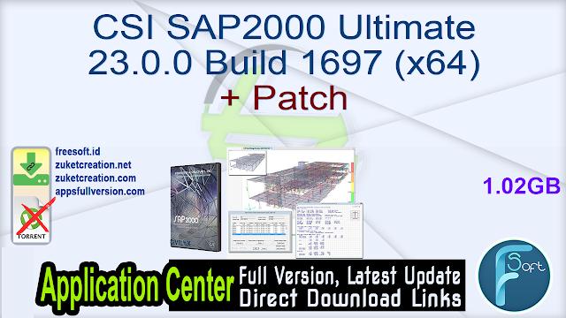 CSI SAP2000 Ultimate 23.0.0 Build 1697 (x64) + Patch