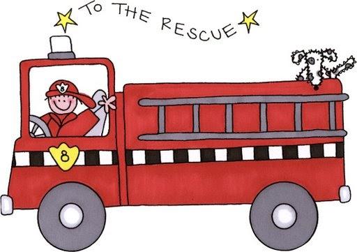 Dibujos Infantiles De Bomberos Coloreados: Camion De Bombero Para Imprimir