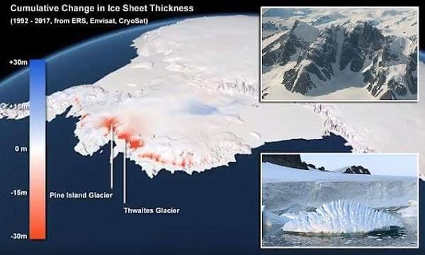 El Calentamiento Global Está Causando Que El Hielo Antártico Se Derrita Tres Veces Más Rápido.
