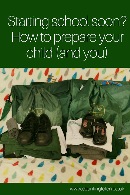 Text saying: Starting school soon? How to prepare your child (and you) above a photo of school uniform
