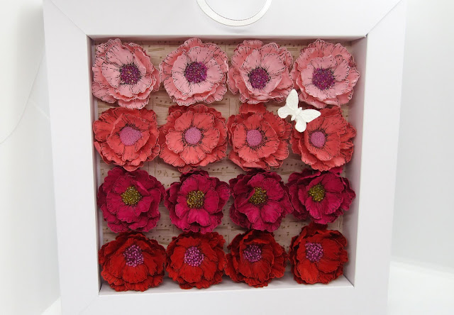 Easy flower shadow box