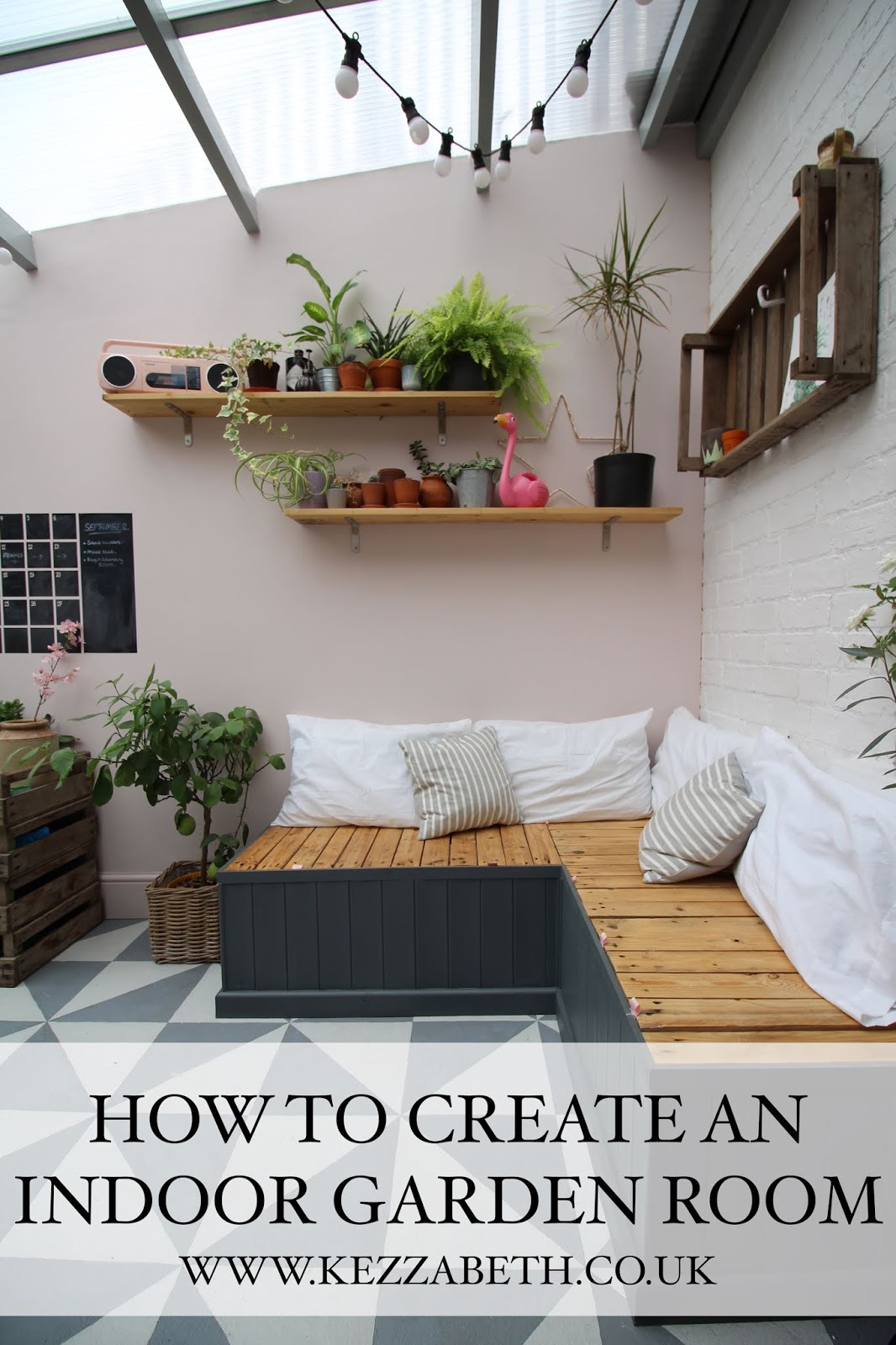 how to create an indoor garden room in a conservatory
