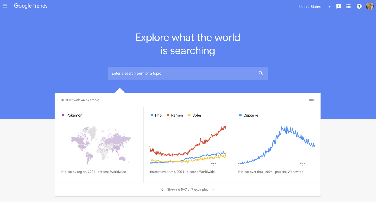 find amazing keywords it's to use Google Trends it's another free tool by Google.