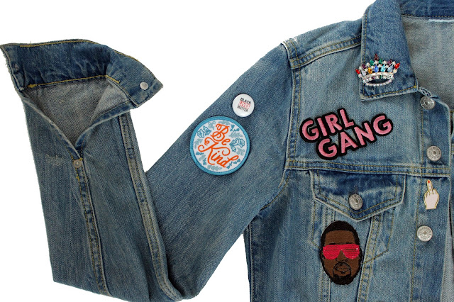 diy patchwork patch denim jacket