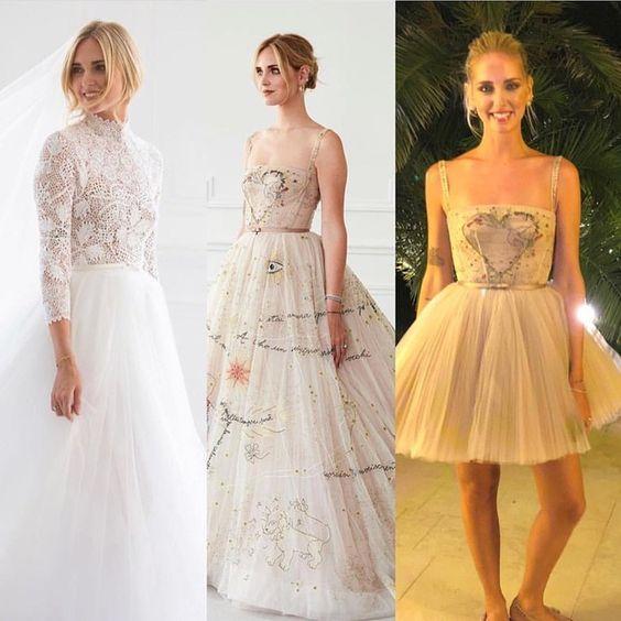 Os três vestidos de noivas Dior da Chiara