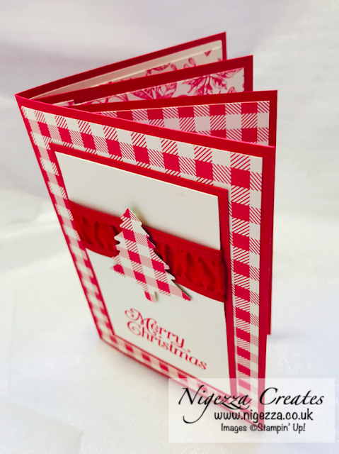 Nigezza Creates with Stampin' Up! Toil Tiding and Wrapped in Plaid  Make & Take