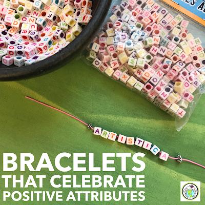 Yo soy alphabet bead bracelets for world language class Spanish French