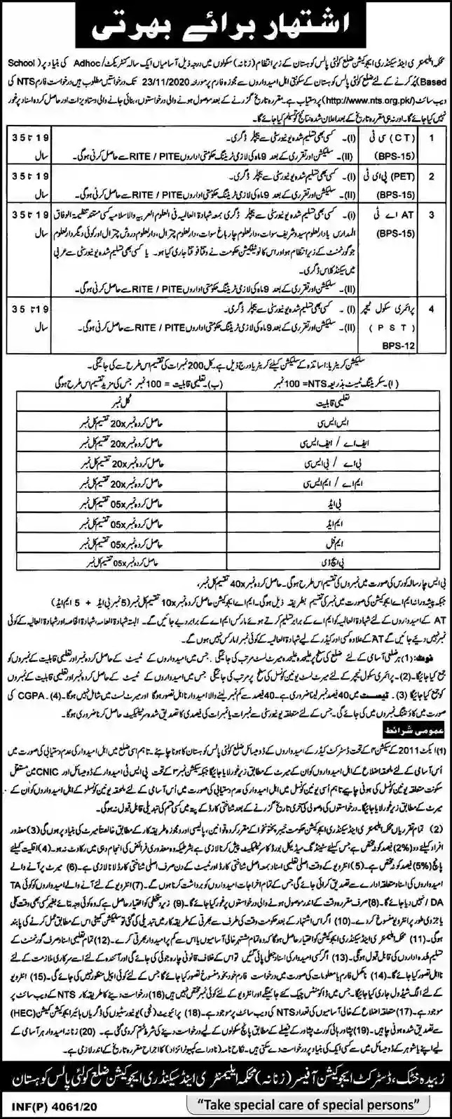 Elementary And Secondary Education Department Kohistan Teaching Jobs 2020