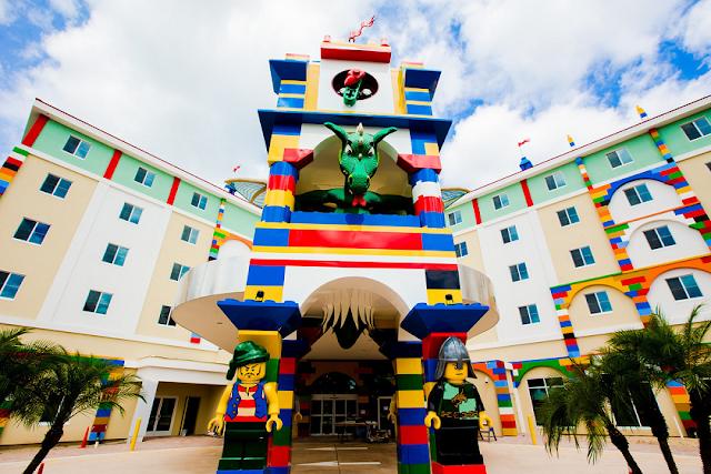 Atrações do parque Legoland para crianças e adultos