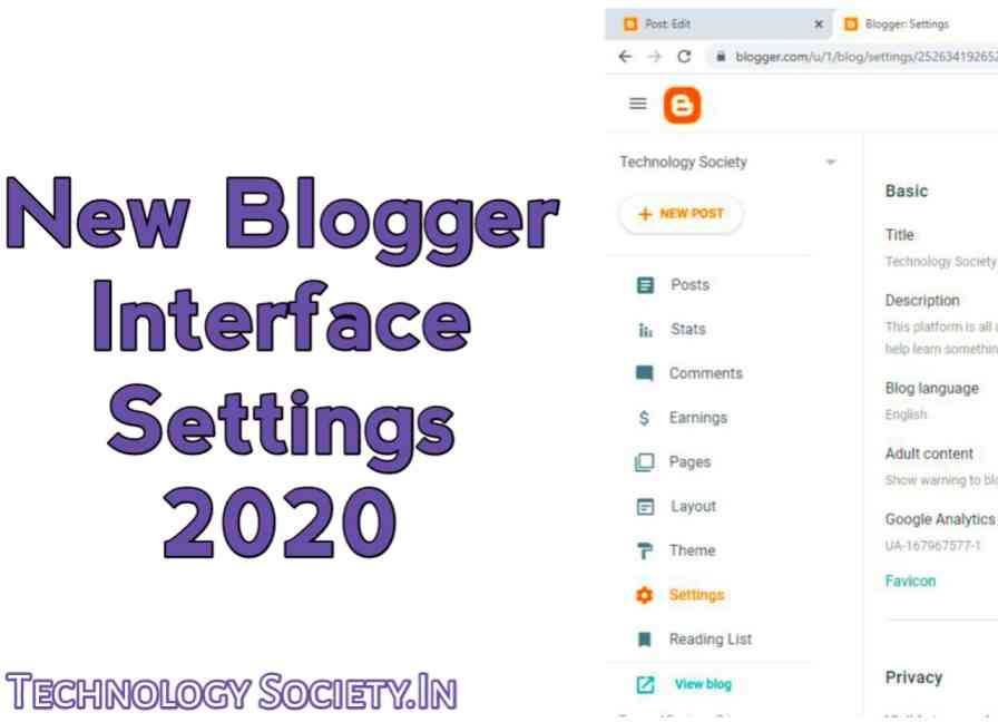New Blogger Interface Settings