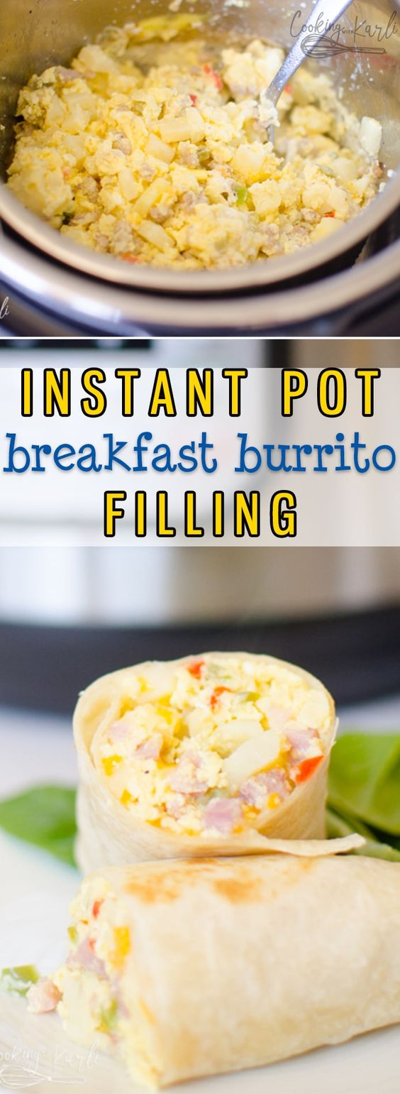 Instant Pot Breakfast Burritos
